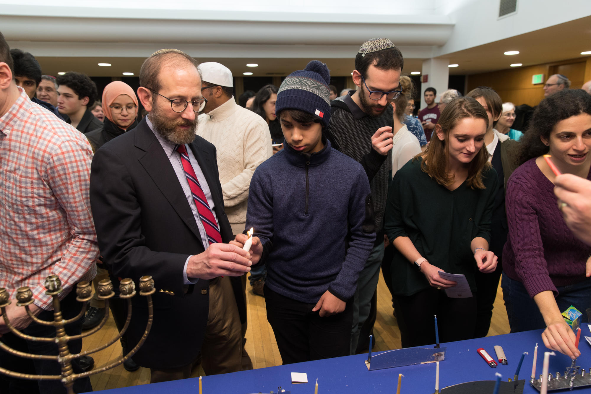 Hanukkah with Provost Garber