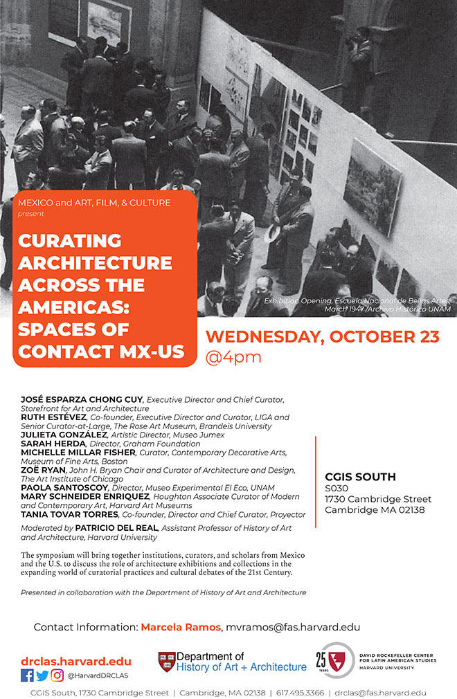 Curating Architecture: October 23rd @ 4pm