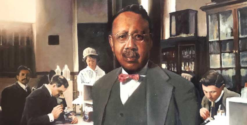 Portrait of William A. Hinton by artist Stephen Coit.