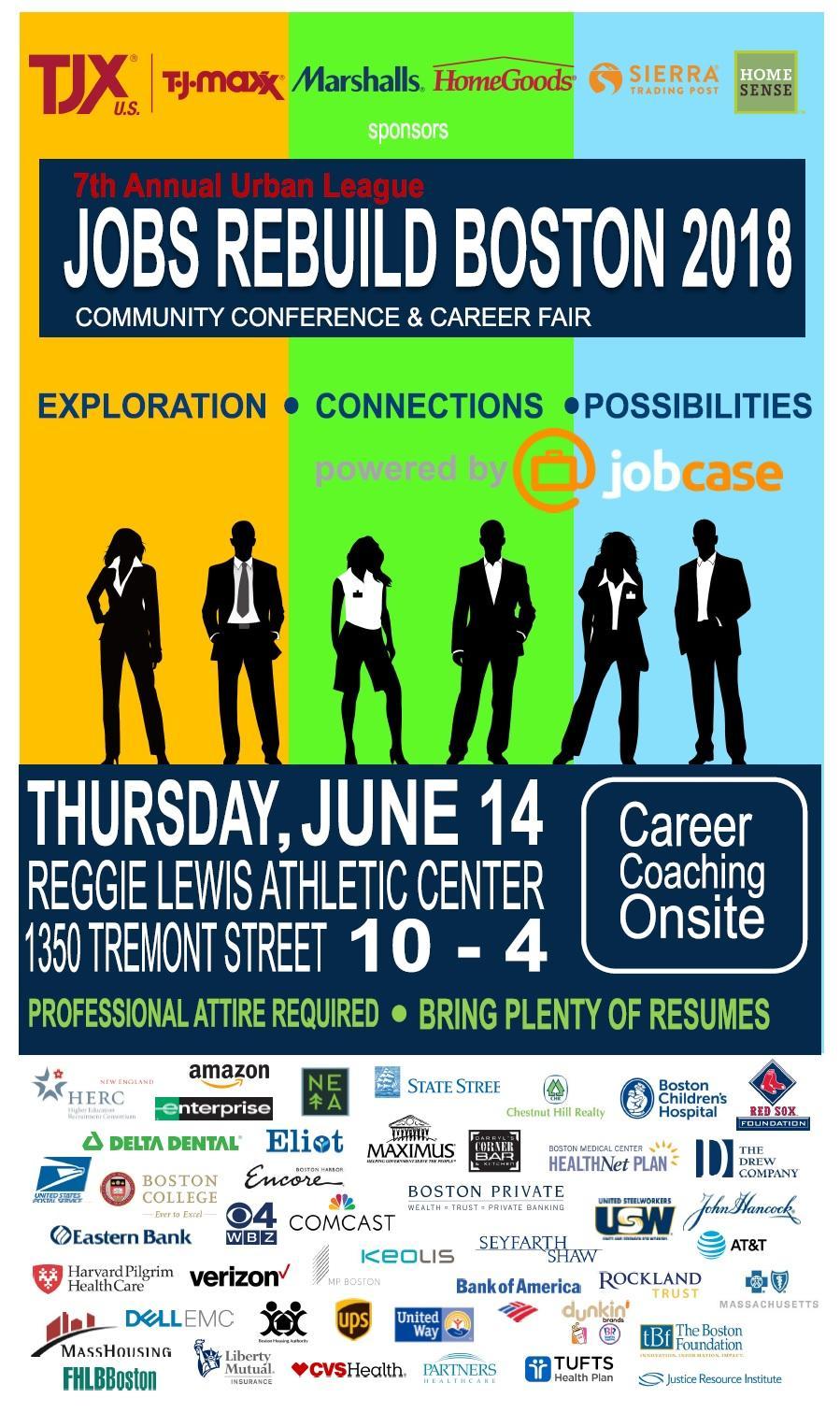 Urban League 7th Annual Jobs Rebuild Boston Community Conference Career Fair Harvard Human Resources