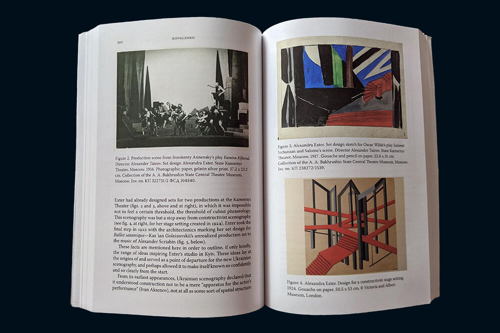 Photo of illustration spread in print volume of HUS journal