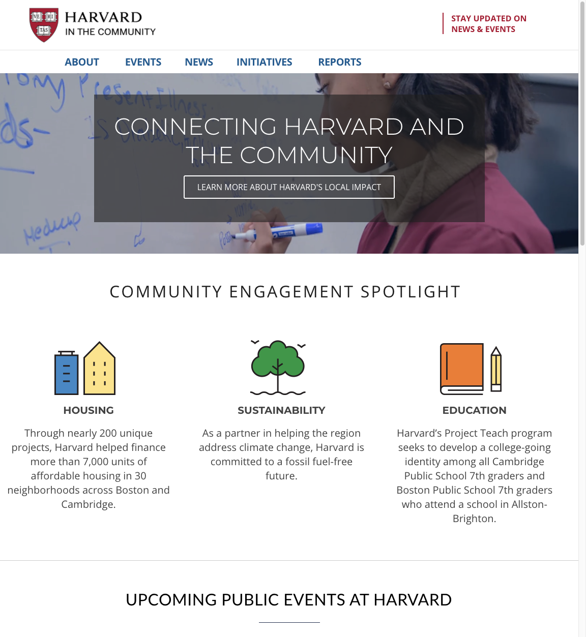 Harvard in the Community