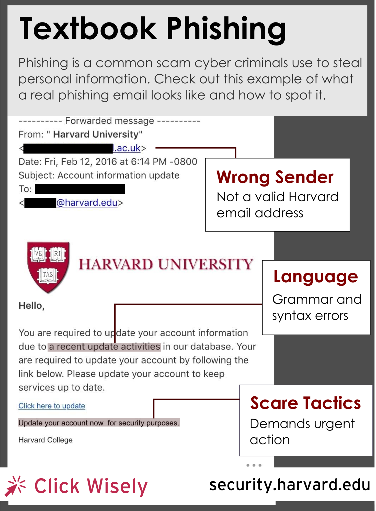 Harvard Targeted Phishing Campaign | Information Security