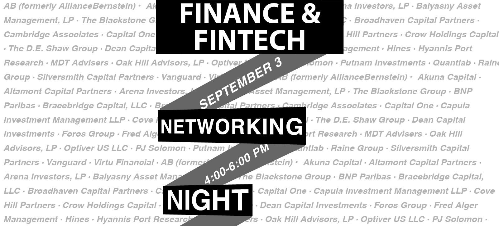 Finance & FinTech Networking Banner