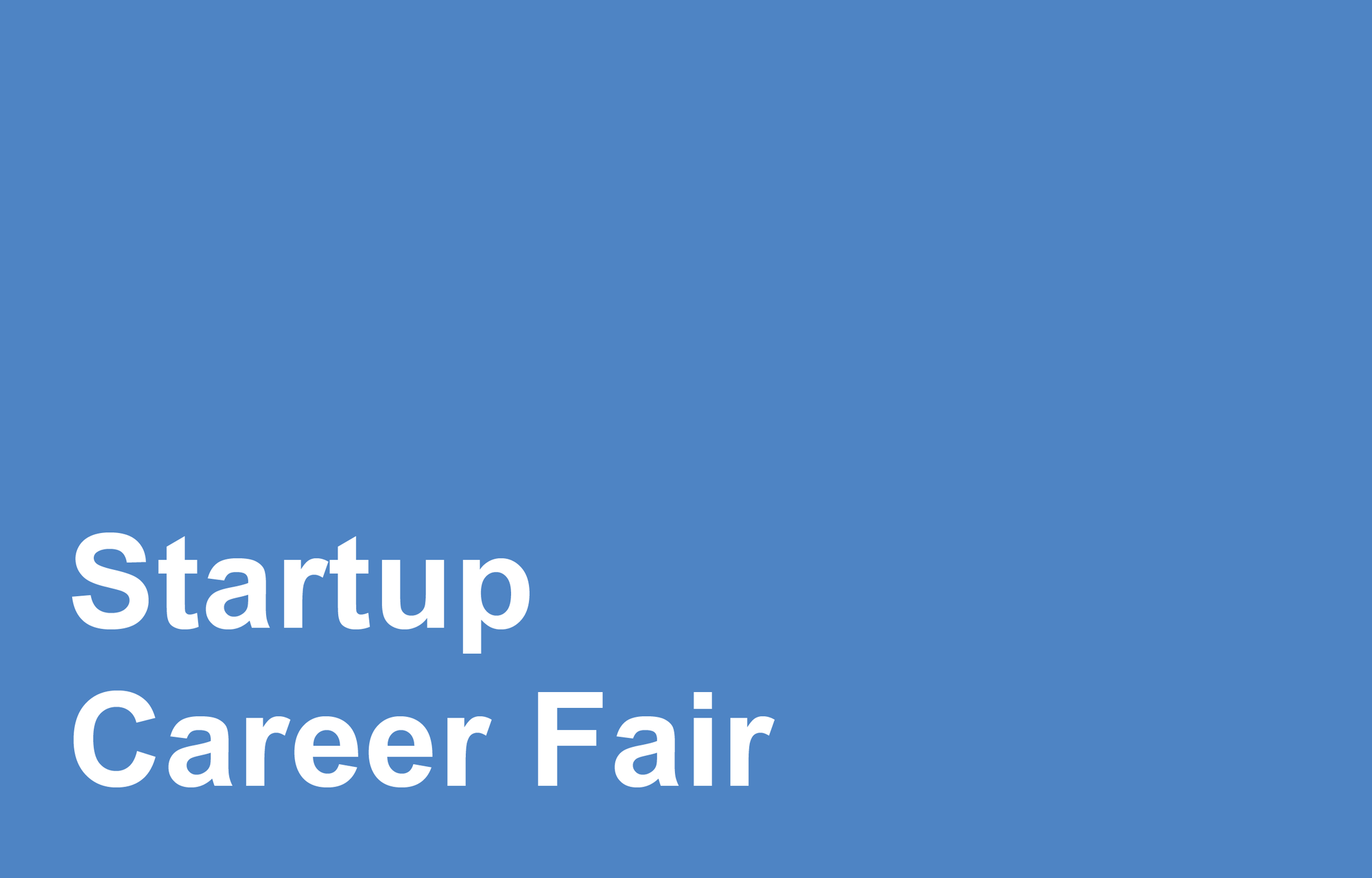Career fairs office of career services startup fair madrichimfo Images