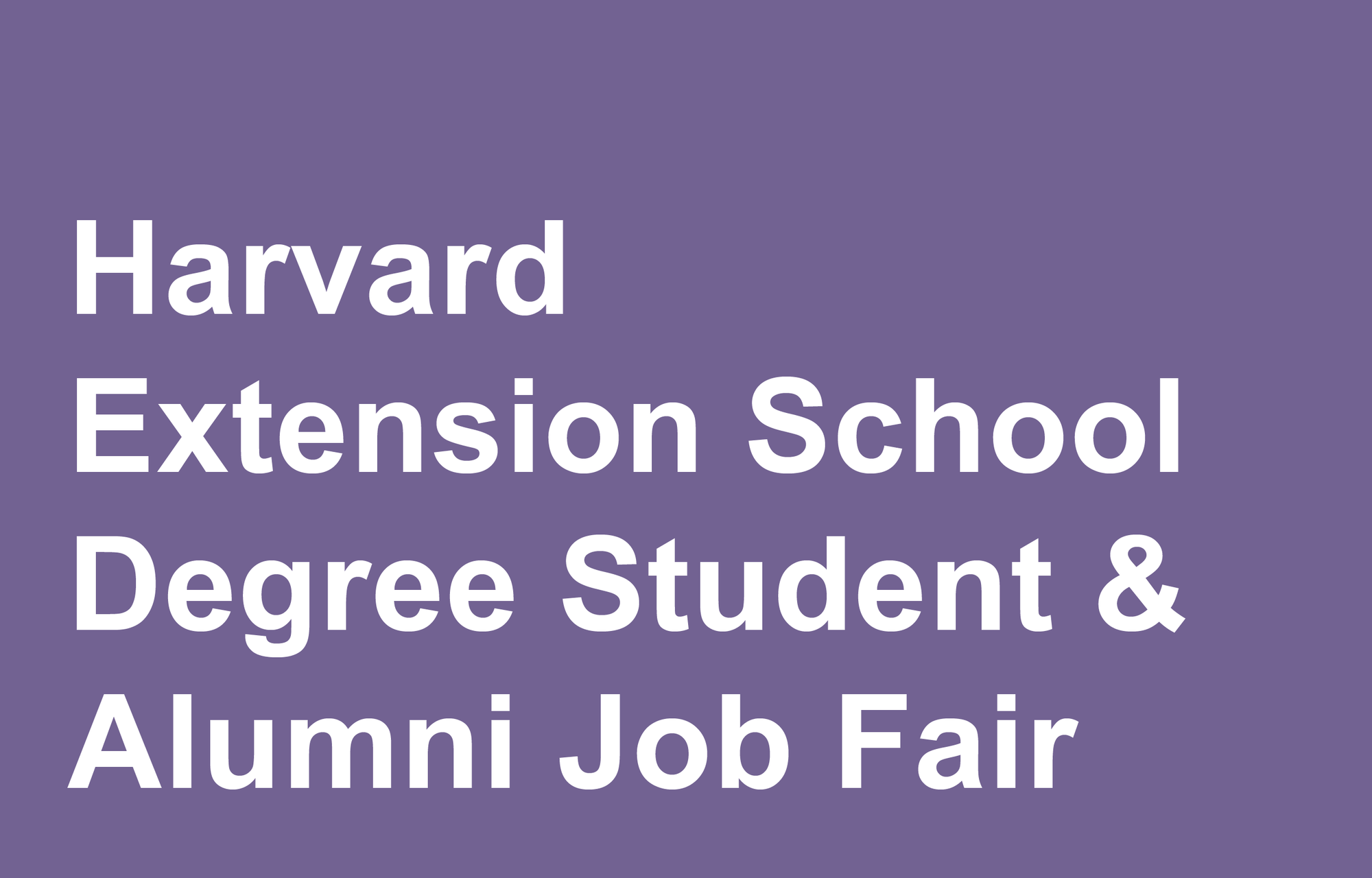 Extension School Fair