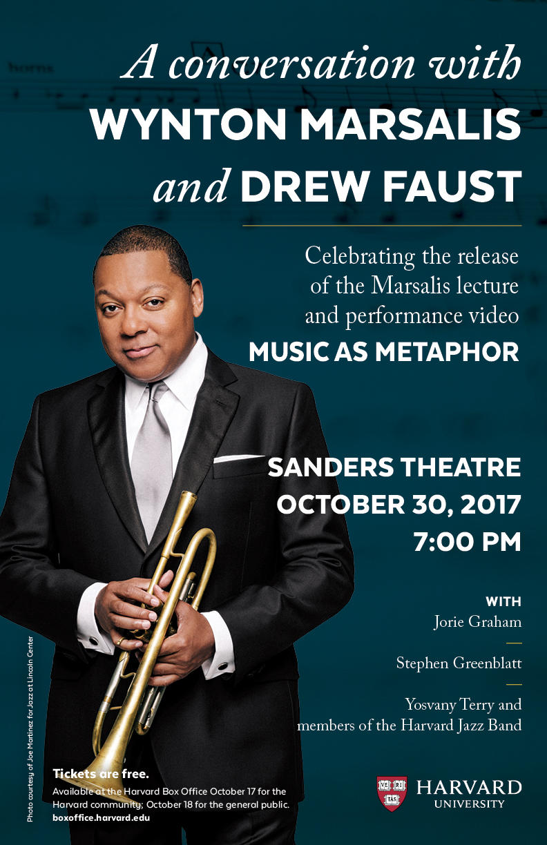 A Conversation with Wynton Marsalis and Drew Faust