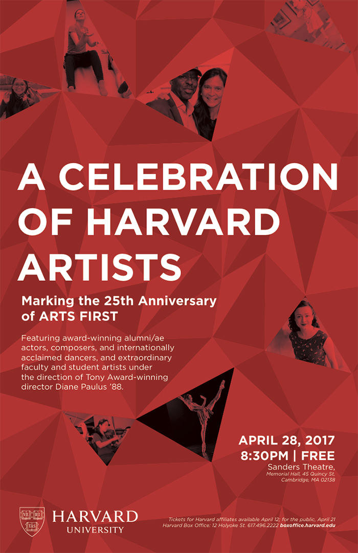 A Celebration of Harvard Artists: Friday, April 28, 8:30 PM