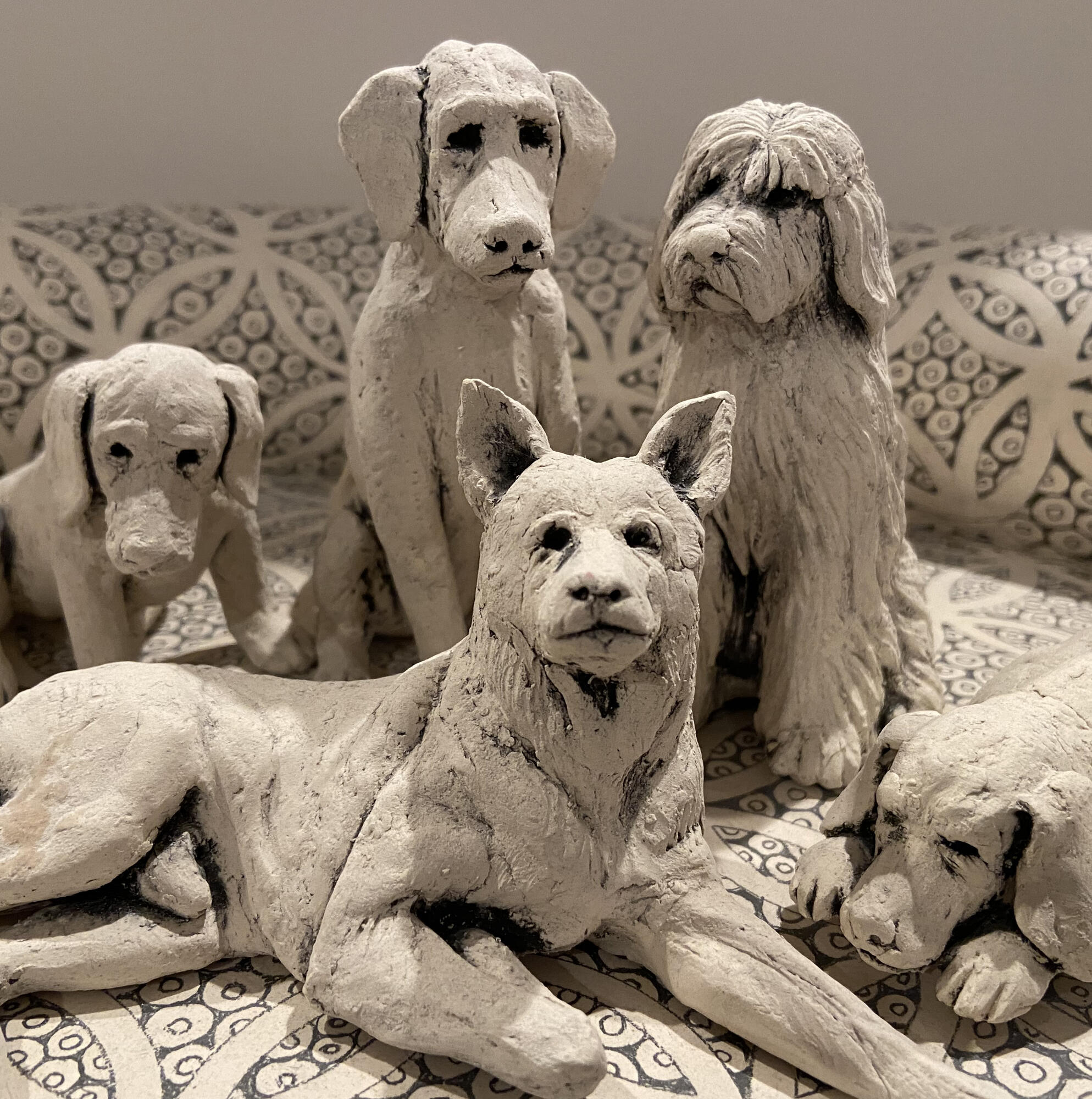 Claudia Olds Goldie sculpture animals dogs