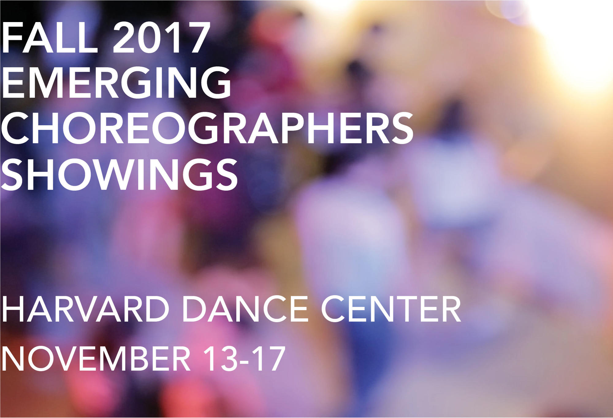 Fall 2017 Emerging Choreographers Showings