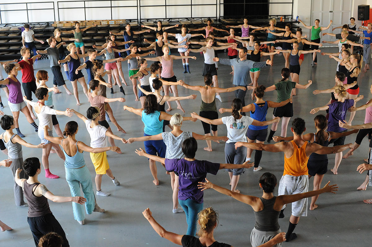 Gaga class with Ohad Naharin. Credit: Gadi Dagon