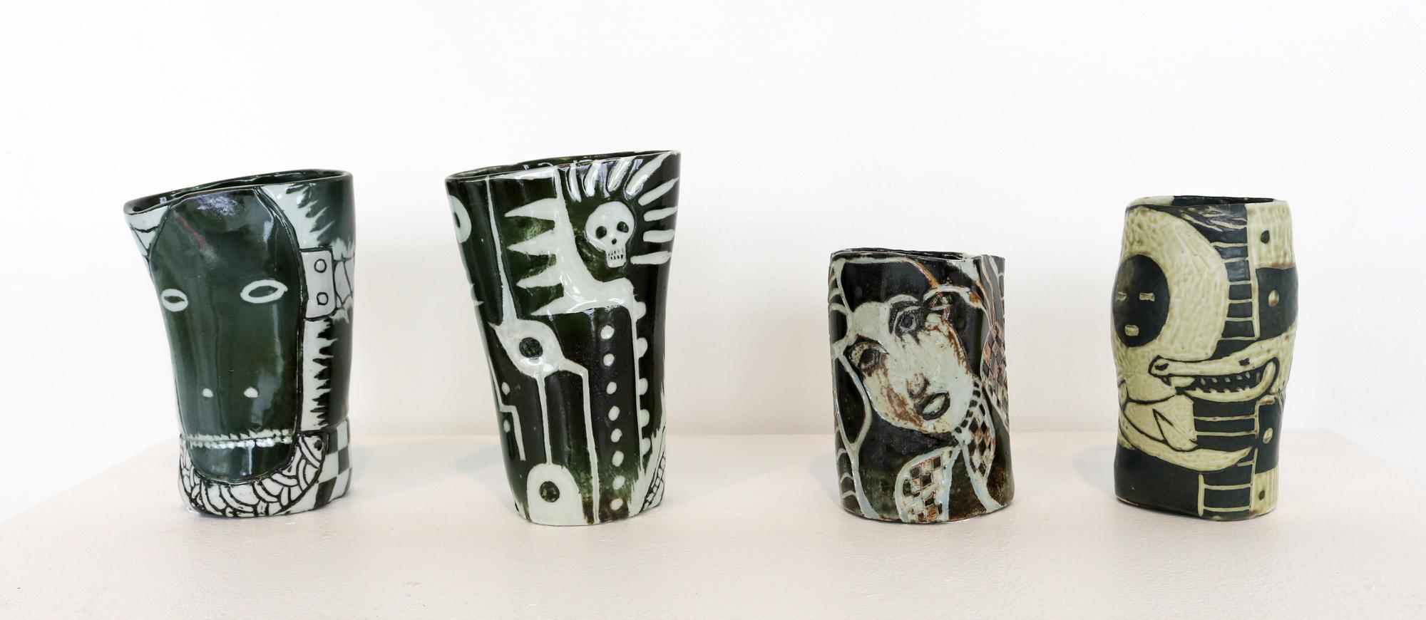 Ceramic vessels by James Keller