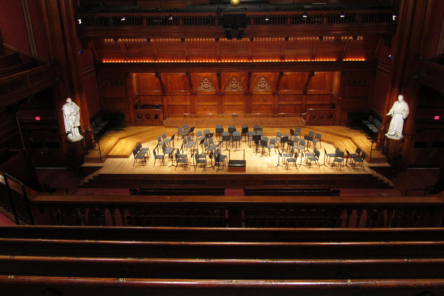 Sanders Theatre Balcony D, Center