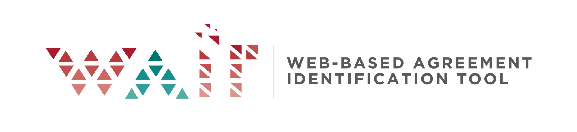 WAIT logo with text: Web-based Agreement Identification Tool.