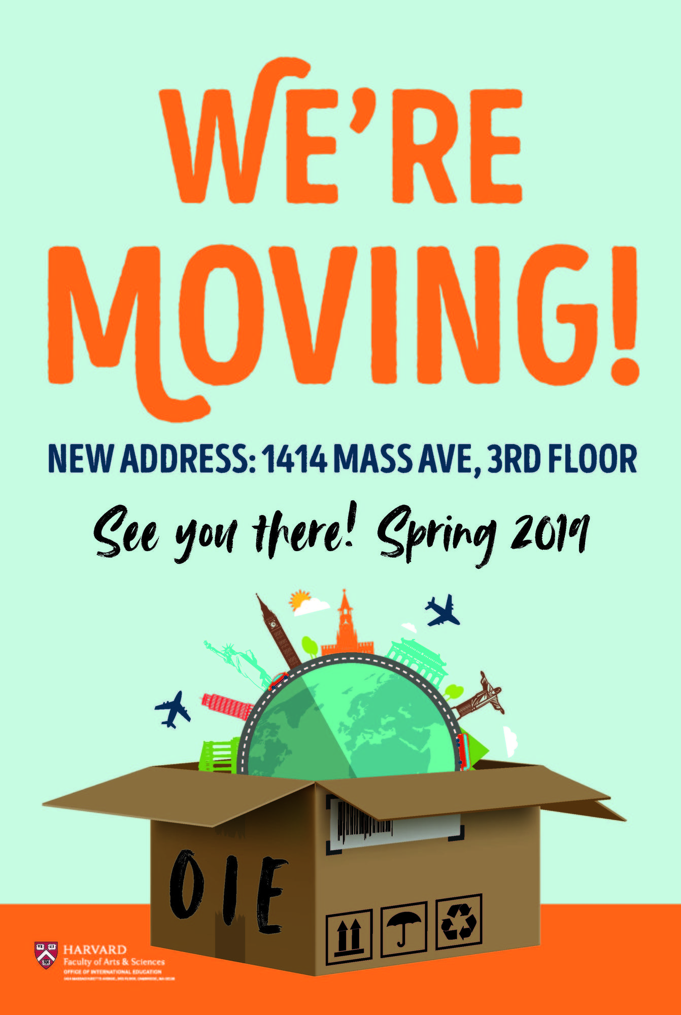 We're Moving! Beginning January 24, 2019 please visit us at 1414 Mass Ave, 3rd Floor