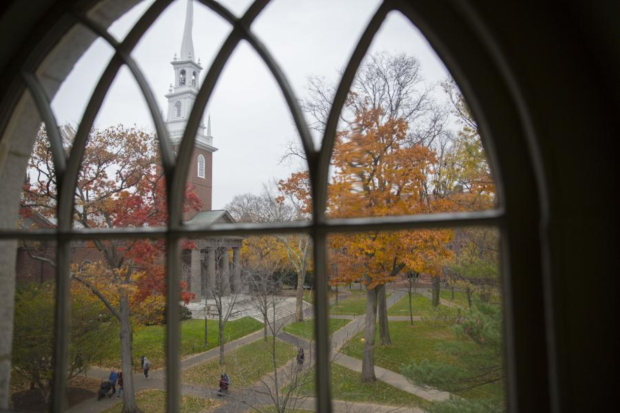 view of Harvard from a window