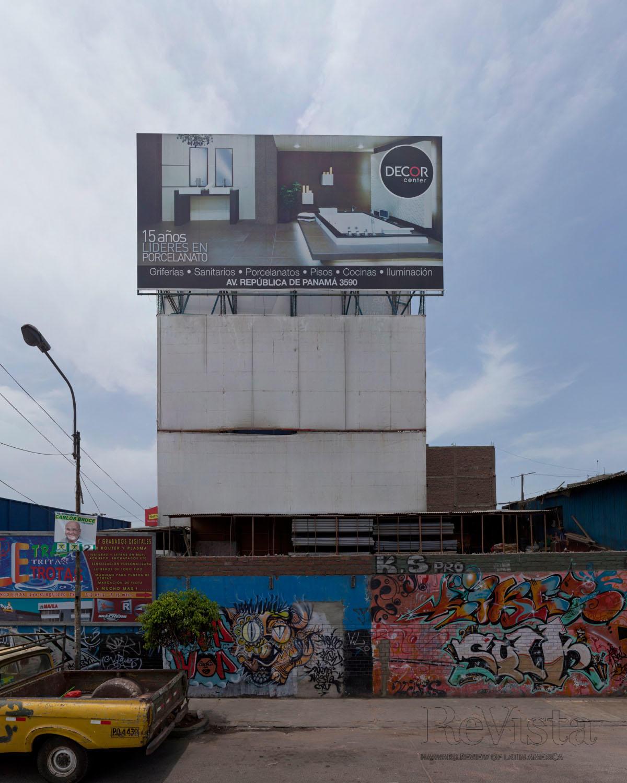 e1565e20b An ad tops graffiti in Lima. Photo by Eduardo Hirose