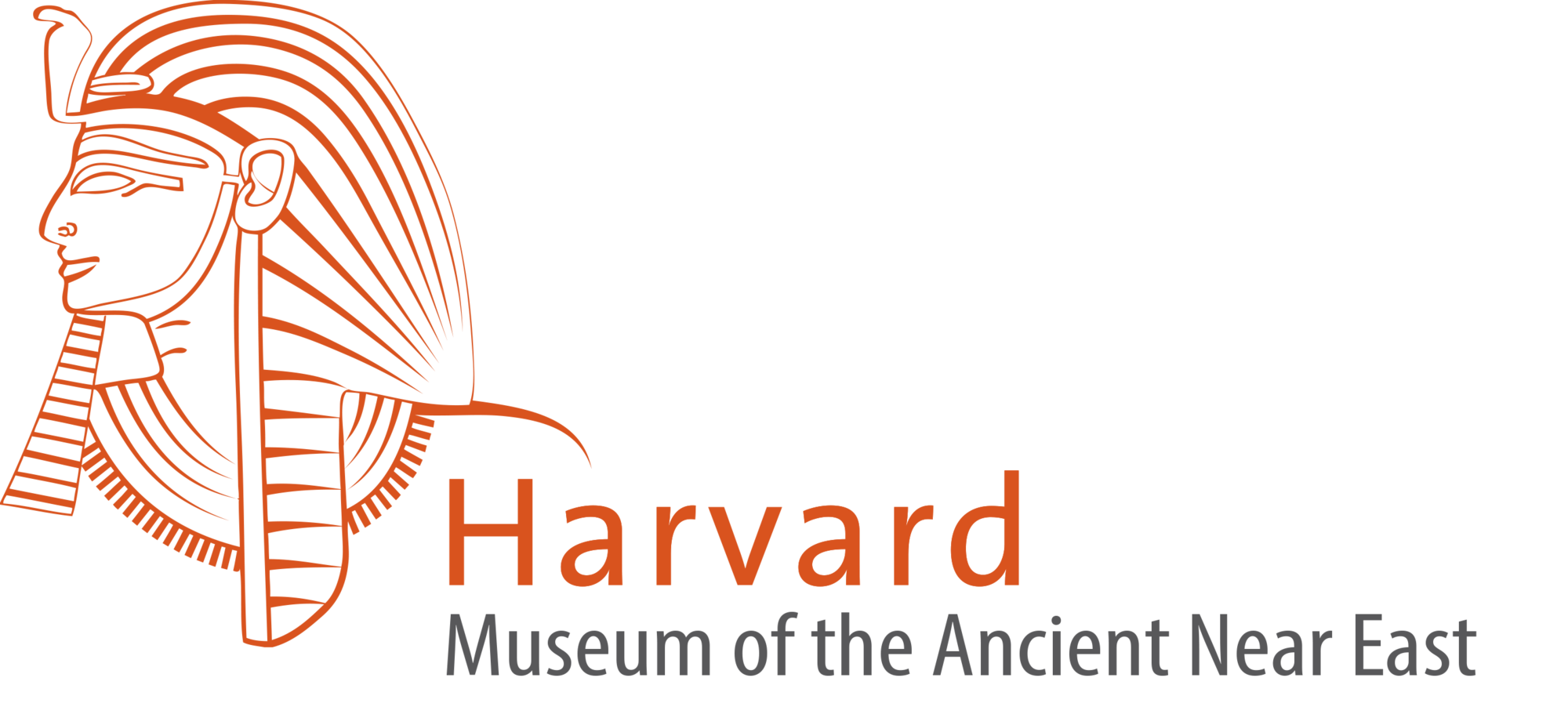 Harvard Museum of the Ancient Near East logo of line drawing of Ancient Egyptian royalty