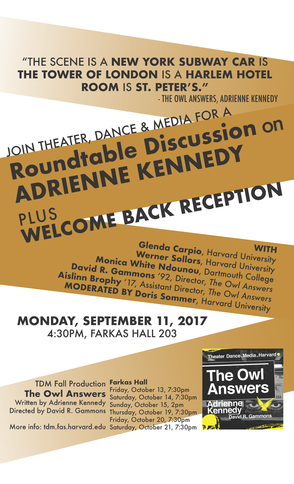 Round table discussion flyer - The Owl Answers Roundtable Discussion
