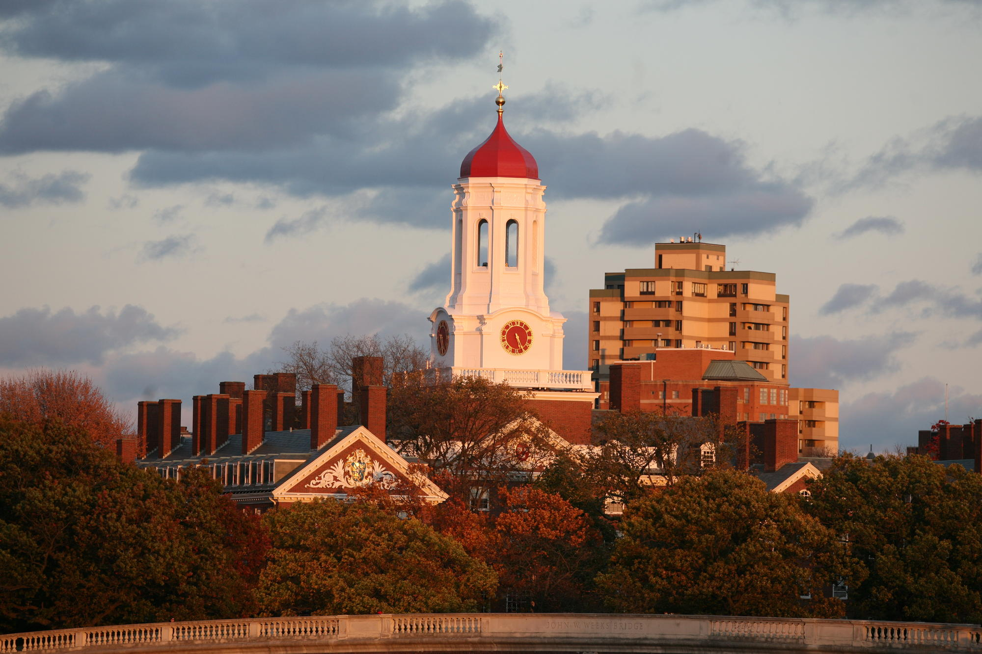 Harvard at Sunset