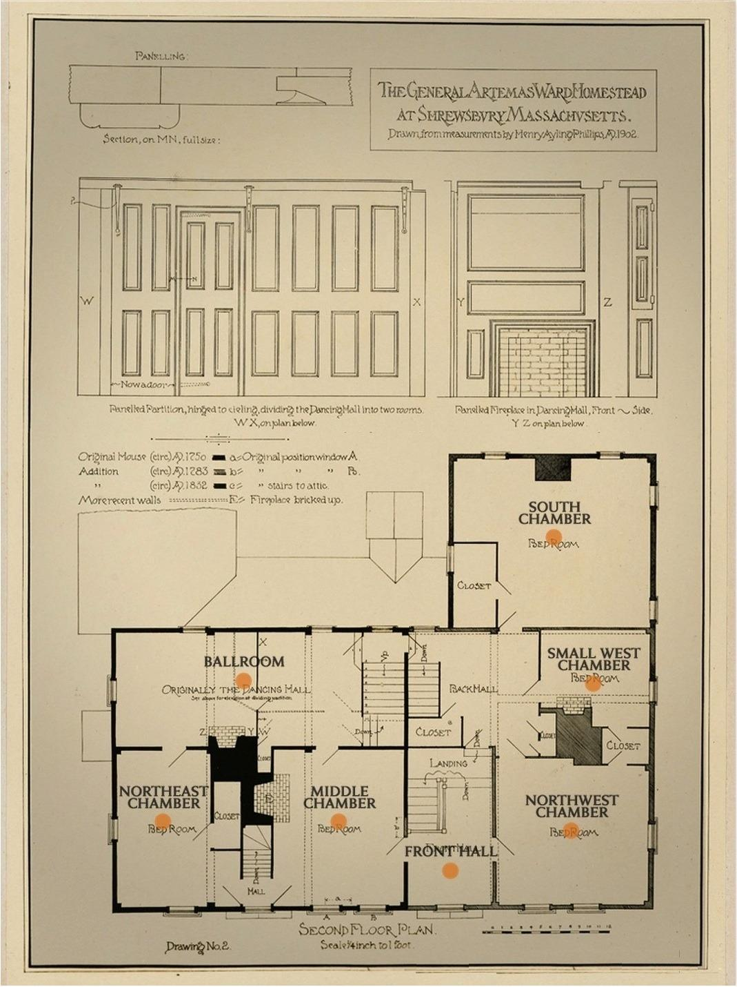 1902 Second Floor Plan