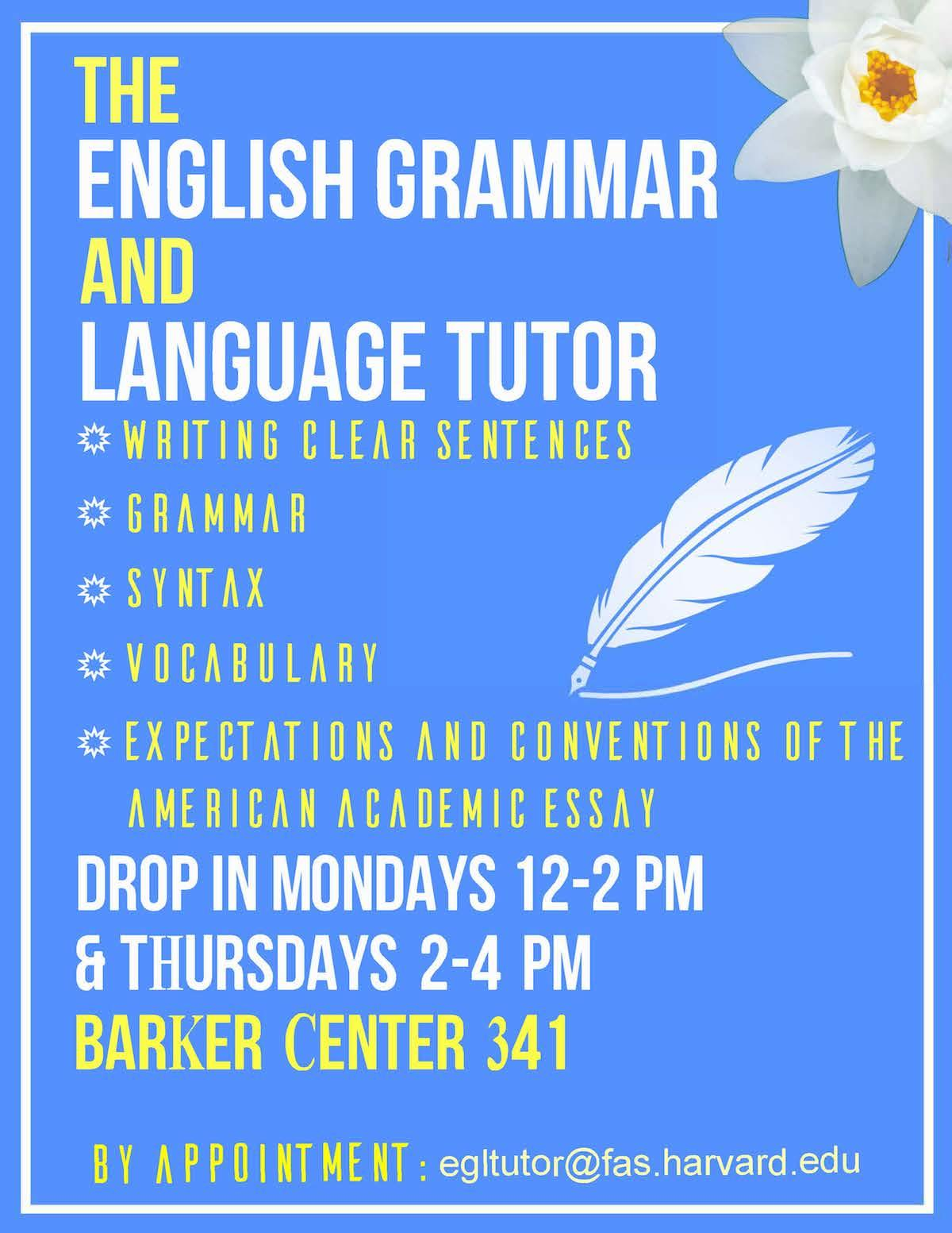 harvard college writing center egl flyer