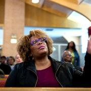Worshiper in African American church