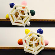 Balloons nudge a soft foam robot to roll
