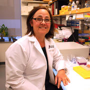 Dr. Gori in her lab