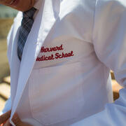 Student in white medical coat
