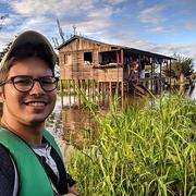 Daniel by the river in the Amazon