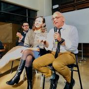 Andrés García, Marcela Rentería, and Randy Testa