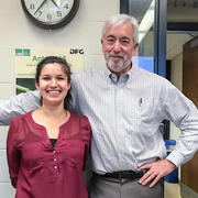 Alyssa and Prof. Farrell after Alyssa's quals