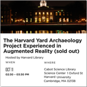 Academic Technology and Partners Present HYAP Augmented Reality Application to a Sold-Out HUBweek Audience