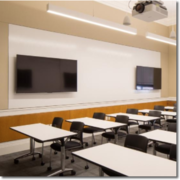 Robinson Hall 105, one of the newly redesigned FAS Learning Spaces