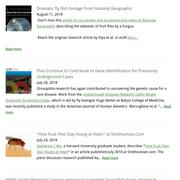 screenshot of the drosophilaresearch.org news page