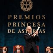Professor Michael Sandel receiving award