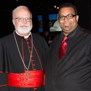 Cardinal Seán O'Malley with Cary Dabney