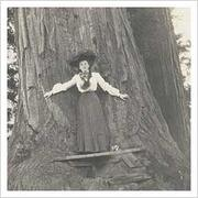Edith Scamman standing in front of a large tree in California
