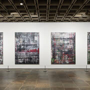 Gerhard Richter, Birkenau, 2014, oil on canvas, four parts. Installation view. Photo: Chris Heins.