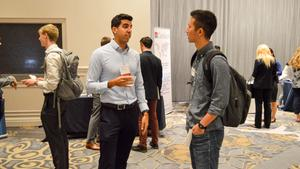 students and employers at Consulting Networking Night