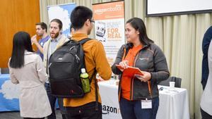 employer and student at Data Analytics & Technology Fair