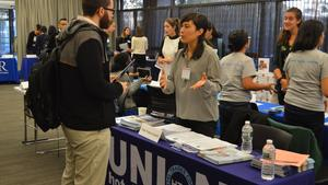 students and employers at Nonprofit, Government, & Global Health Fair