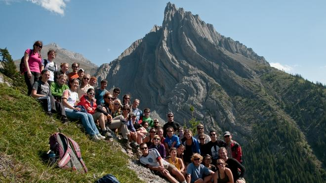 EPS Undergraduate students in the Canadian Rockies