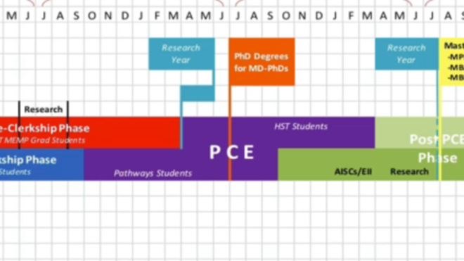 An outline of the Pathways and HST curriculums during all four years