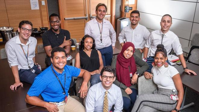 Participants in the Poussaint Pre-Matriculation Summer Program (PPSP) at Dana Farber, Photo: John Lines