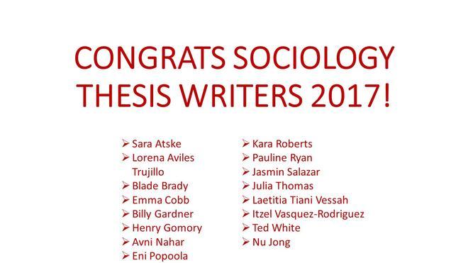 writing sociology thesis