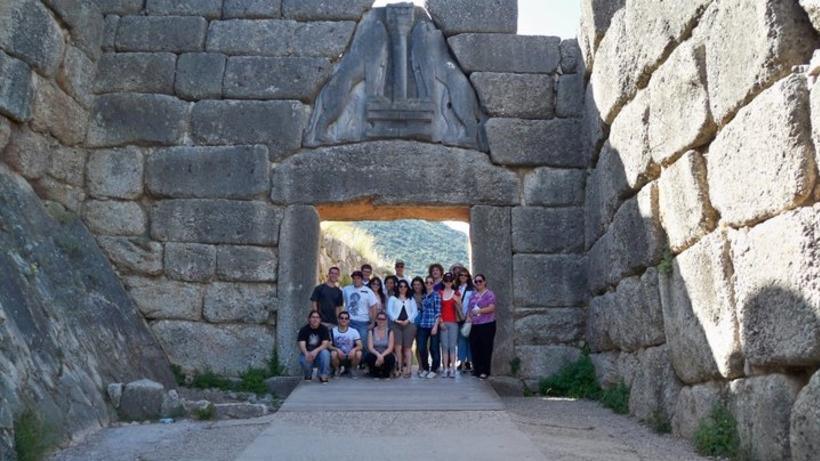 Students at Mycenae