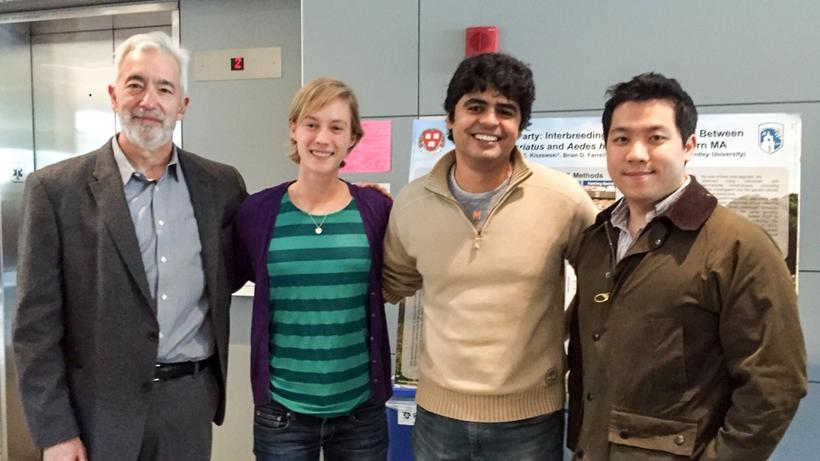 Farrell Lab members at 2016 senior thesis poster session