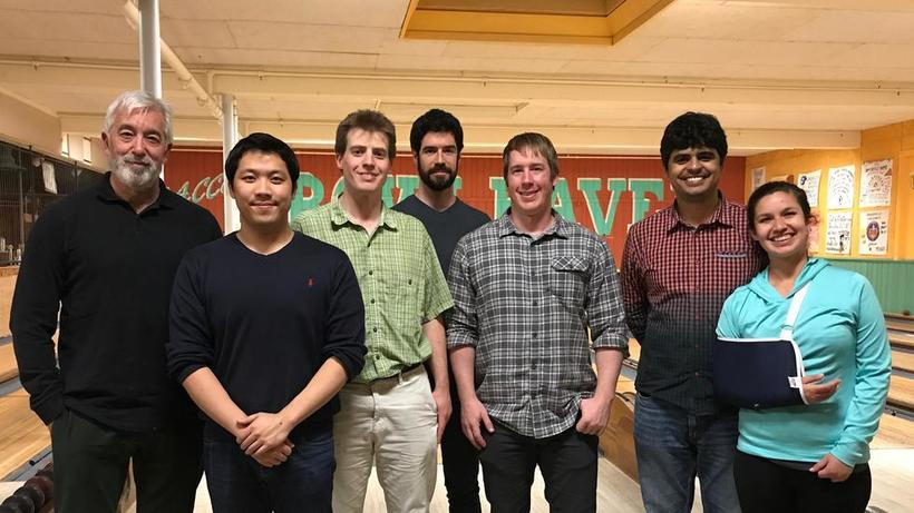 Photo of several Farrell Lab members